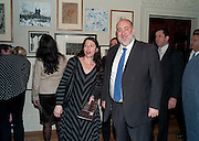 SHARON HARNOY; H.E. RON PROSOR ;  The Israeli ambassador; , No New Thing Under the Sun. Royal Academy. Piccadilly. London. 20 OCTOBER 2010. -DO NOT ARCHIVE-© Copyright Photograph by Dafydd Jones. 248 Clapham Rd. London SW9 0PZ. Tel 0207 820 0771. www.dafjones.com.