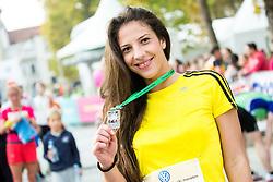 Runner at the end of 20th Ljubljana Marathon 2015, on October 25, 2015 in Ljubljana, Slovenia. Photo by Vid Ponikvar / Sportida