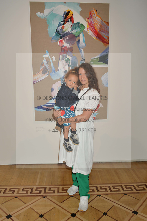 "LULU KENNEDY and her daughter RAINBOW at a private view of work by Matthew Stone ""Healing The Wounds' held at Somerset House, The Strand, London on 4th July 2016."