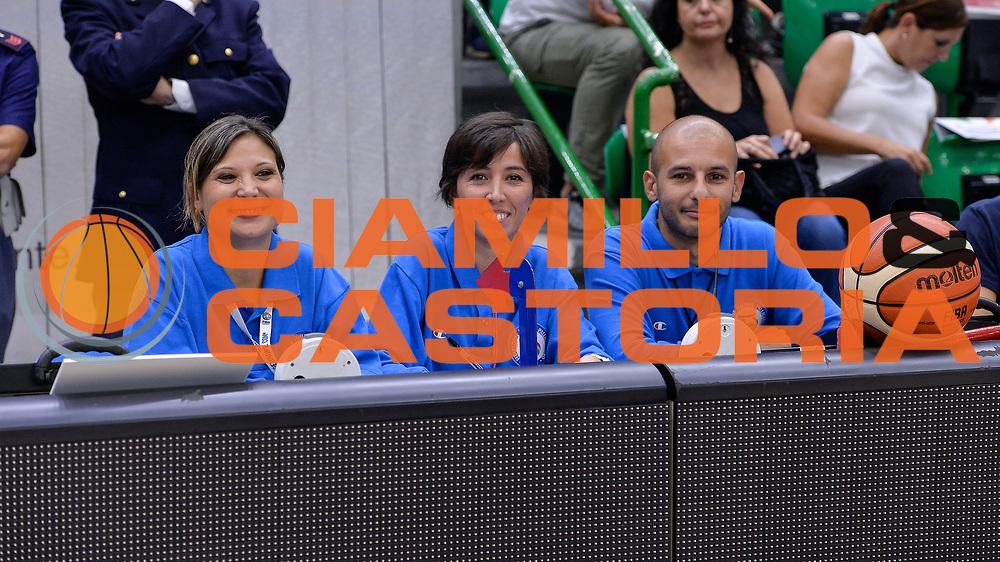 DESCRIZIONE : Beko Legabasket Serie A 2015- 2016 Dinamo Banco di Sardegna Sassari -Vanoli Cremona<br /> GIOCATORE : Ufficiali di Campo<br /> CATEGORIA : Arbitro Referee<br /> SQUADRA : AIAP<br /> EVENTO : Beko Legabasket Serie A 2015-2016<br /> GARA : Dinamo Banco di Sardegna Sassari - Vanoli Cremona<br /> DATA : 04/10/2015<br /> SPORT : Pallacanestro <br /> AUTORE : Agenzia Ciamillo-Castoria/L.Canu