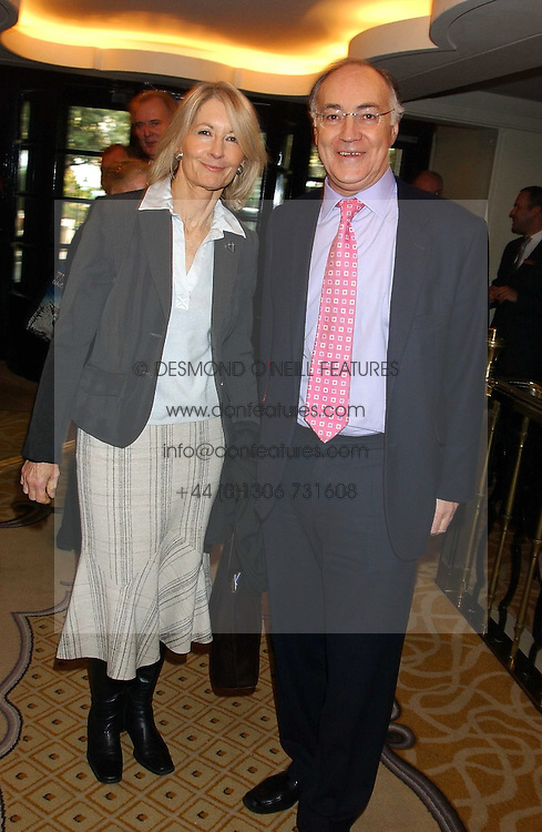 MICHAEL HOWARD MP and SANDRA HOWARD at The Sir Peter O'Sullevan Charitable Trust Lunch at The Savoy, London on 23rd November 2005.<br /><br />NON EXCLUSIVE - WORLD RIGHTS