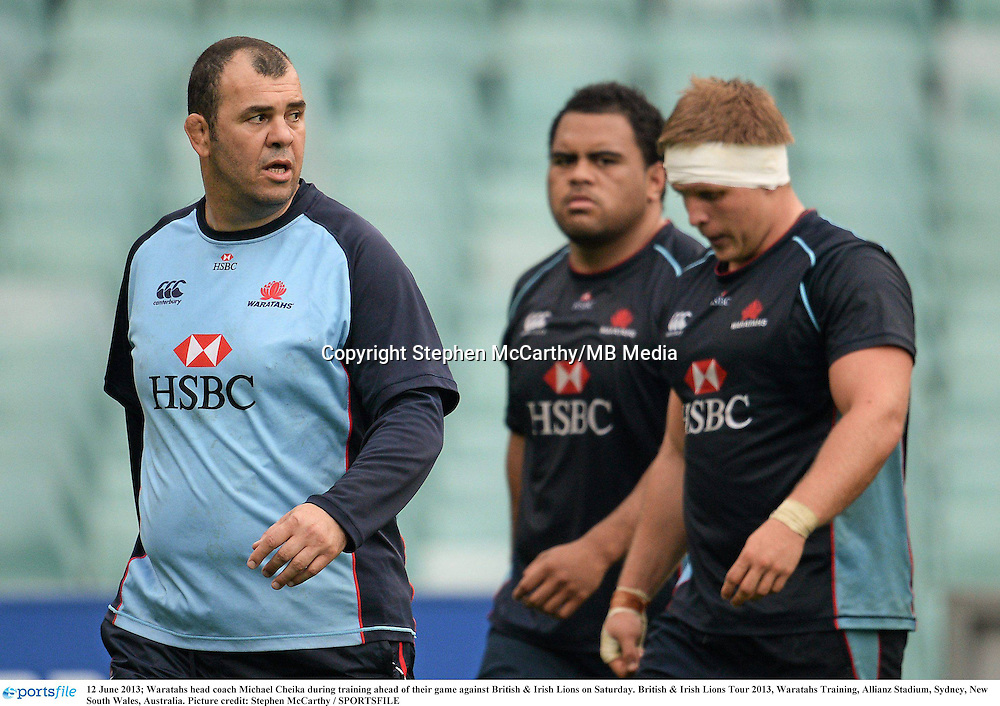12 June 2013; Waratahs head coach Michael Cheika during training ahead of their game against British & Irish Lions on Saturday. British & Irish Lions Tour 2013, Waratahs Training, Allianz Stadium, Sydney, New South Wales, Australia. Picture credit: Stephen McCarthy / SPORTSFILE