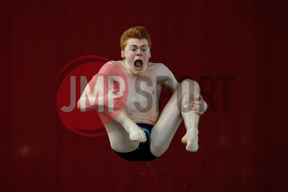 Sam Thornton of City of Leeds Diving Club competes in the Mens 1m Synchronised Springboard Final - Photo mandatory by-line: Rogan Thomson/JMP - 07966 386802 - 20/02/2015 - SPORT - DIVING - Plymouth Life Centre, England - Day 1 - British Gas Diving Championships 2015.