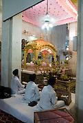 India, Delhi, Interior of the Bangla Sahib Sikh Temple
