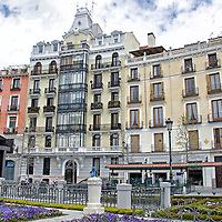 Edificio opuesto a la plaza Oriente en Madrid. Building opposite Plaza Oriente in Madrid. Spain.
