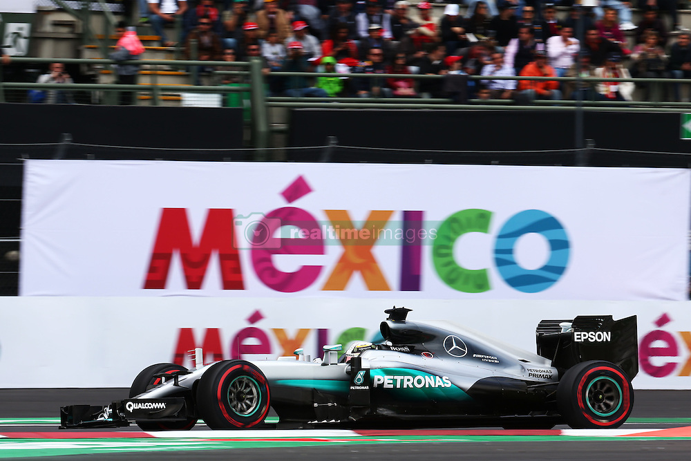 Lewis Hamilton (GBR) Mercedes AMG F1 W07 Hybrid.<br /> 28.10.2016. Formula 1 World Championship, Rd 19, Mexican Grand Prix, Mexico City, Mexico, Practice Day.<br /> Copyright: Batchelor / XPB Images / action press