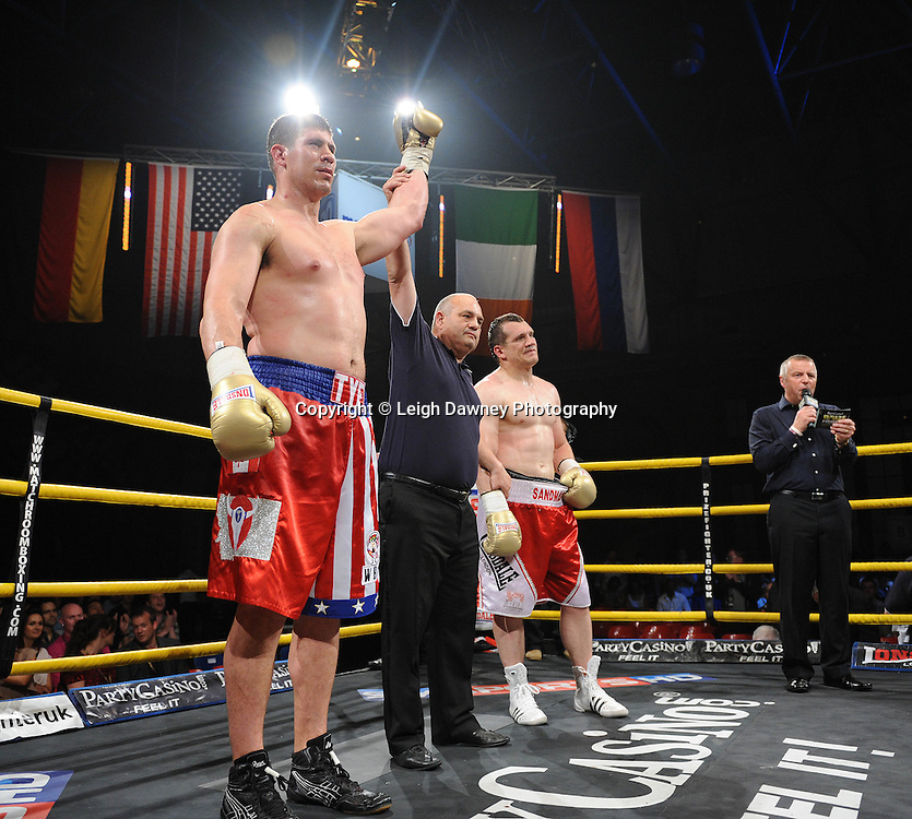 Tye Fields defeats Konstantin Airich in Semi Final 2 at Prizefighter International on Saturday 7th May 2011. Prizefighter / Matchroom. Photo credit © Leigh Dawney. Alexandra Palace, London.