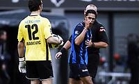 Fotball, 5. april 2010 , Tippeligaen , Eliteserien<br /> Stabæk - Tromsø 0-1<br /> Daniel Nannskog , Stabæk  retter en advarende finger mot TILs Sead Ramovic<br /> <br /> Foto: Anders Hoven , Digitalsport