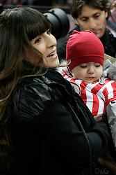 Kun Aguero's wife Giannina Maradona and son Benjamin Aguero Maradona.
