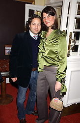 Fashion designer ALVIN VALLEY and KATRINA PAVLOSat the launch of 'Grand Classics:Films with Style' series in London hosted by Vivienne Westwood at The Electric Cinema, Portobello Road, London W11 on 20th March 2006.<br /><br />NON EXCLUSIVE - WORLD RIGHTS