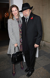 Sir Peter and Lady Hall arriving at the Theatre Awards UK held at the Banqueting House in London, Sunday, 30th October 2011.  Photo by: Stephen Lock/i-Images