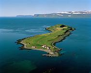 Vigur séð til norðurs, Ísafjarðardjúp, Súðavíkurhreppur / Vigur viewing north, Isafjardardjup, Sudavikurhreppur