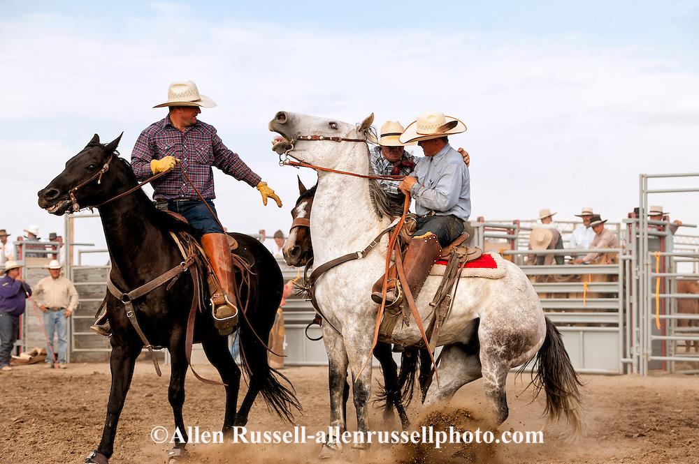Will James Roundup; Ranch Rodeo; Pickup Men; Brett Marshall; KC Verhelst; Bronc Rider; Chris Hatch, Hardin; Montana