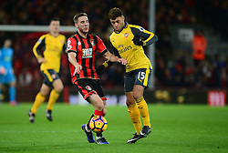 Dan Gosling of Bournemouth battles for the ball with Alex Oxlade-Chamberlain of Arsenal - Mandatory by-line: Alex James/JMP - 03/01/2017 - FOOTBALL - Vitality Stadium - Bournemouth, England - Bournemouth v Arsenal - Premier League