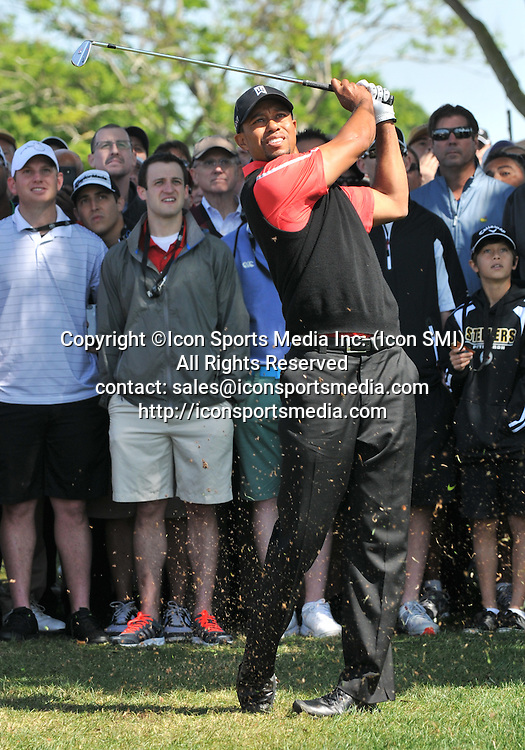 25 March 2013: Tiger Woods 2nd shot 9th hole during the final round of the Arnold Palmer Invitational at Arnold Palmer's Bay Hill Club & Lodge in Orlando, Florida.
