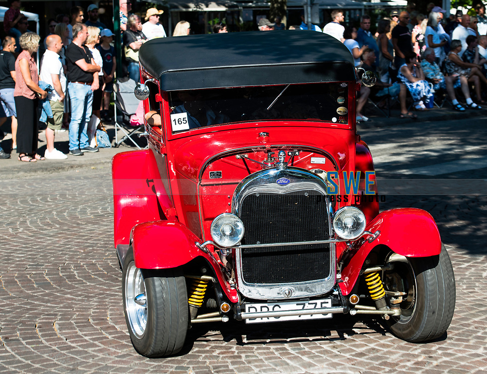 2018-07-06 | Lidk&ouml;ping, Sweden: One Ford Hot Rod cuse around  at Power Big meet in lidk&ouml;ping City  ( Photo by: Roger Johansson | Swe Press Photo )<br /> <br /> Keywords: Lidk&ouml;ping City, Lidk&ouml;ping, Power Big Meet, cars, american cars