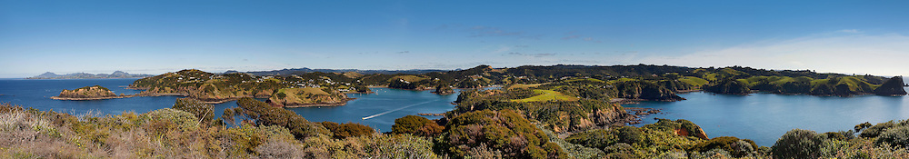 wide sweeping views of stunning tutukaka and surrounding islands, tutukaka, new zealand