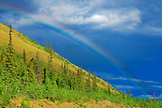 Rainbow on Klondike Highway<br /> Carmacks<br /> Yukon<br /> Canada