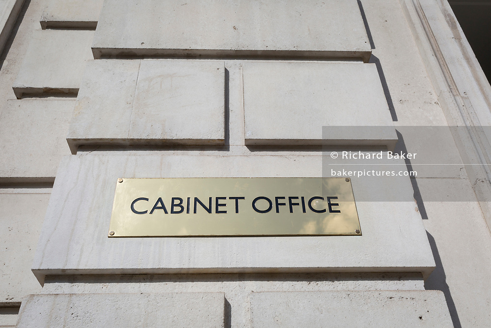 Exterior of the Cabinet Office on Whitehall, the location of daily Brexit contingency planning meetings (codenamed Yellowhammer, in government departments), on 19th August 2019, in London, England.