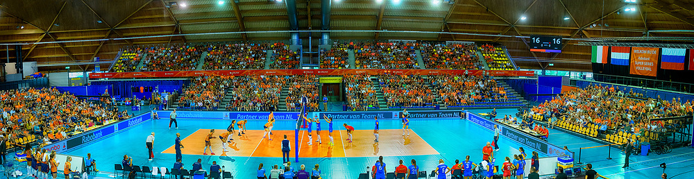 12-08-2018 NED: Rabobank Super Series Final Netherlands - Russia, Eindhoven<br /> Russia win the first edition of the Rabobank Super Series. Netherlands lost the final match 3-2 / Dutch Orange support in the Indoor Sportcenter Eindhoven