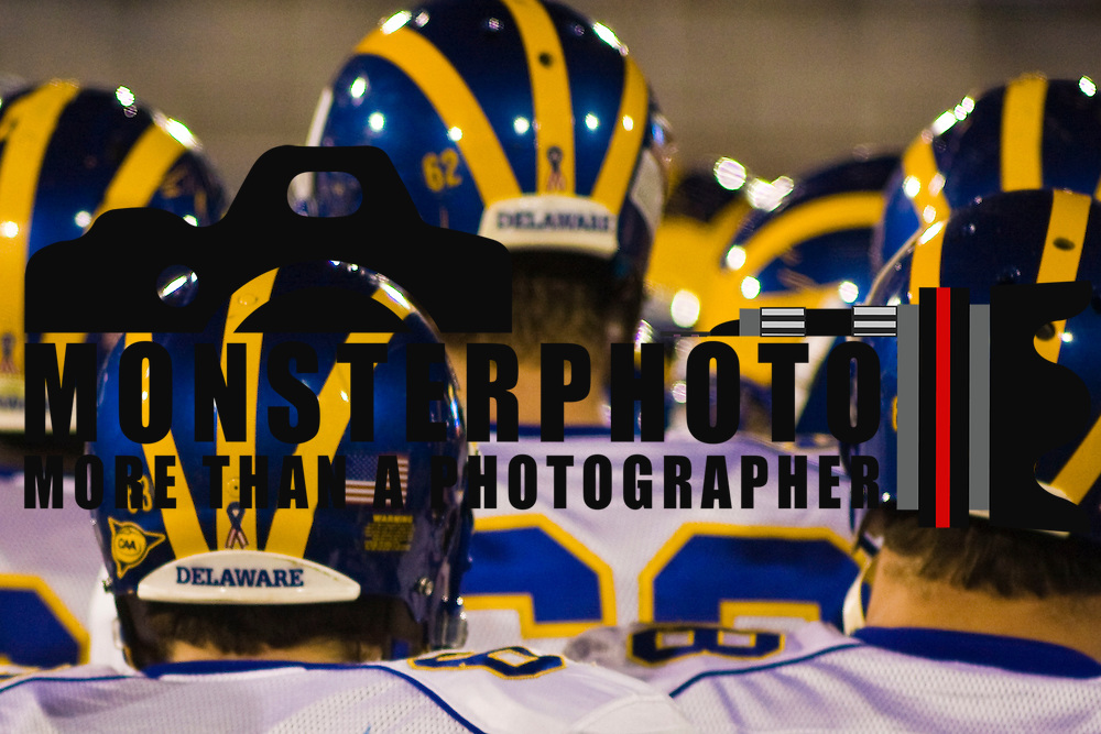 4/23/10 The University of Delaware football team, plays it annual Blue & White game The offense get five touchdowns in the second half as the Delaware Offense beats the defense 86-56 to close out spring practice at Delaware  Stadium...Buy/License/Royalty Free @ monsterphotoiso.com.