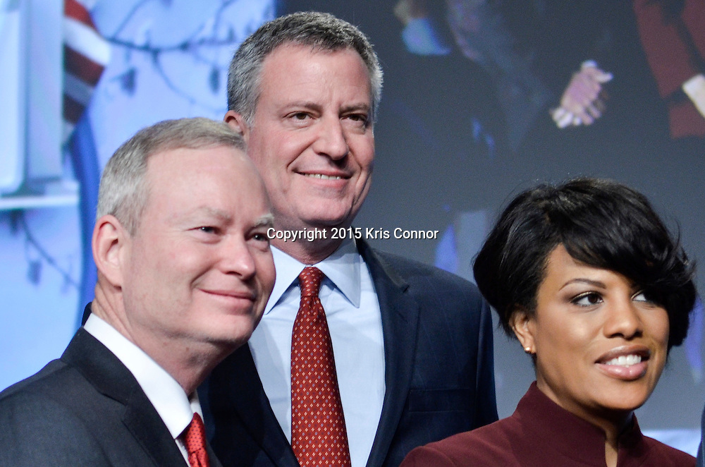 Mayor de Blasio deliver remarks at the United States Conference of Mayors Plenary Panel during The United States Conference of Mayors Winter Meeting 2015 at the Capitol Hilton on January 23, 2015 in Washington DC. Photo by Kris Connor for New York Daily News