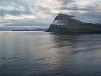 Mjóifjörður evening mood. Eastfiords of Iceland.