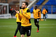 Southend United defender Ben Coker (3) warming up before the EFL Sky Bet League 1 match between Peterborough United and Southend United at London Road, Peterborough, England on 3 February 2018. Picture by Nigel Cole.