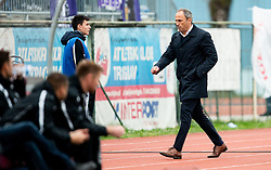 Darko Milanic, head coach of Maribor leaving the court during Football match between NK Triglav and NK Maribor in 25th Round of Prva liga Telekom Slovenije 2018/19, on April 6, 2019, in Sports centre Kranj, Slovenia. Photo by Vid Ponikvar / Sportida