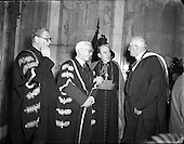 1953 - 28/10 Cardinal Spellman receives Honorary Degree from National University of Ireland