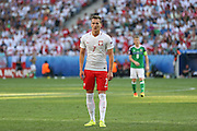 Poland Arkadiusz Milik during the Euro 2016 match between Poland and Northern Ireland at the Stade de Nice, Nice, France on 12 June 2016. Photo by Phil Duncan.