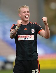 Fulham's Jack Grimmer celebrates at the end of the match - Photo mandatory by-line: Richard Martin-Roberts/JMP - Mobile: 07966 386802 - 21/03/2015 - SPORT - Football - Huddersfield - John Smith's Stadium - Huddersfield Town v Fulham - Sky Bet Championship