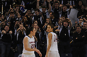 The Gonzaga band cheers on the women's basketball team as they beat Saint Mary's at McCarthey Athletic Center in February. (Photo by Rajah Bose)