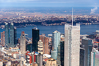 US, New York City. View from the Empire State Building observation deck.