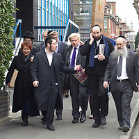 © BLAKE-EZRA PHOTOGRAPHY LTD. .www.blakeezracole.com  /  +44 (0) 7814 745512.Mayor of London Boris Johnson on the election campaign trail, visiting the Jewish group Chabad Lubavitch Children's Centre in Stamford Hill on the afternoon of Thursday April 4th 2012.