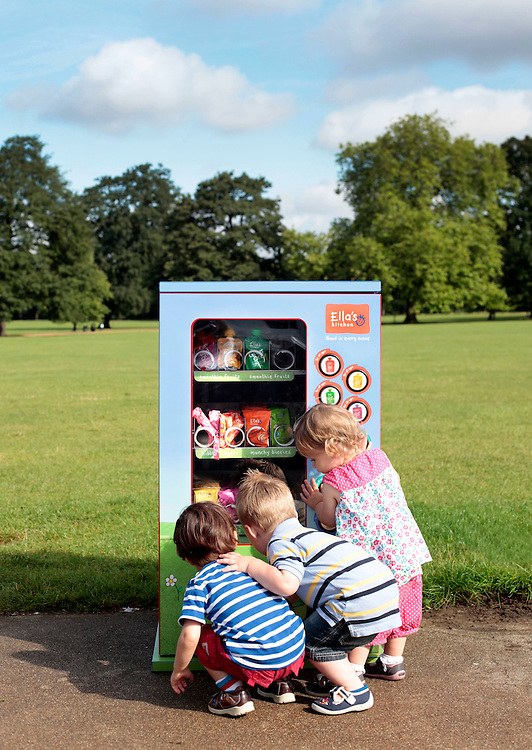 Ella's Kitchen vending machine in Dulwich Park