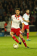 Sheffield United midfielder Chris Basham controls the ball during the Sky Bet League 1 match between Burton Albion and Sheffield Utd at the Pirelli Stadium, Burton upon Trent, England on 29 September 2015. Photo by Aaron Lupton.