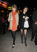 21.OCTOBER.2010. LONDON<br /> <br /> TAYLOR SWIFT AND SELENA GOMEZ ARRIVING AT JAMIE OLIVER'S ITALIAN RESTAURANT, JAMIE'S ITALIAN IN COVENT GARDEN FOR DINNER. THEY THEN LEFT AND HEADED ONTO A ICE CREAM PARLOUR BEFORE BOTH HEADED BACK TO THERE LONDON HOTEL.<br /> <br /> BYLINE: EDBIMAGEARCHIVE.COM<br /> <br /> *THIS IMAGE IS STRICTLY FOR UK NEWSPAPERS AND MAGAZINES ONLY*<br /> *FOR WORLD WIDE SALES AND WEB USE PLEASE CONTACT EDBIMAGEARCHIVE - 0208 954 5968*