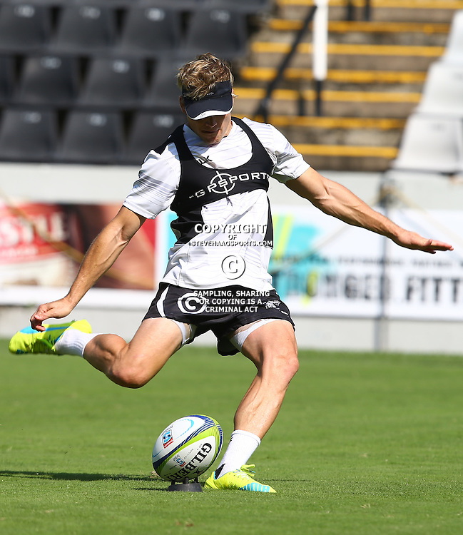 DURBAN, SOUTH AFRICA, 25,MARCH, 2016 - Joe Pietersen during The Cell C Sharks Captain session at Growthpoint Kings Park in Durban, South Africa. (Photo by Steve Haag)<br /> <br /> images for social media must have consent from Steve Haag