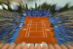 MONTE-CARLO, MONACO - Sunday, April 20, 2003: Centre Court at the Monte-Carlo Country Club as Juan Carlos Ferrero (Spain) defeats Guillermo Coria (Argentina) 6-2, 6-2 in the final of the Tennis Masters Monte-Carlo. (Pic by David Rawcliffe/Propaganda)