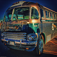 Greyhound bus from 1950's