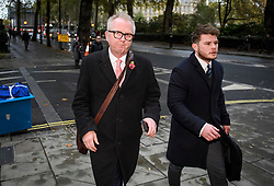 © Licensed to London News Pictures. 07/11/2019. London, UK. Member of Parliament for Dudley North IAN AUSTIN is seen in Westminster, London following an interview in which he called for people to vote for the Conservative party in order to keep Jeremy Corbyn out of Downing Street. A general election has been called on December 12th in an attempt to get a Brexit agreement through parliament. Photo credit: Ben Cawthra/LNP