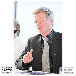 Peter Walls at the Press conference announcing Pietari Inkinen as the NZSO's Music Director at Minter Ellison, The Lumley Centre, Auckland