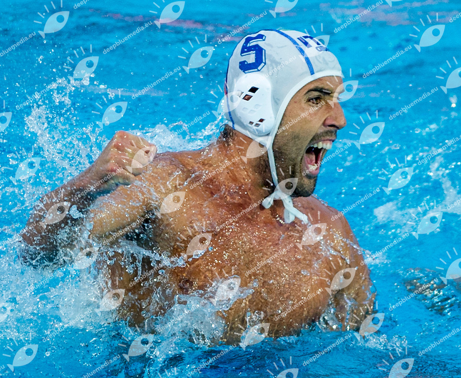 5 GIORGETTI Alex ITA<br /> Italy (White) Vs Montenegro (Blue) Men<br /> LEN European Water Polo Championships 2014 - July 14-27<br /> Alfred Hajos - Tamas Szechy Swimming Complex<br /> Margitsziget - Margaret Island<br /> Day14 - July 27<br /> Photo Pasquale Mesiano/Inside/Deepbluemedia