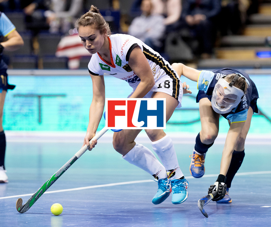 BERLIN - Indoor Hockey World Cup<br /> Women: Ukraine - Germany<br /> foto: Lisa Altenburg.<br /> WORLDSPORTPICS COPYRIGHT FRANK UIJLENBROEK