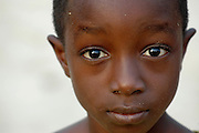 Portrait of a young Ghanian child..Ghana, West Africa, Africa.© Demelza Cloke