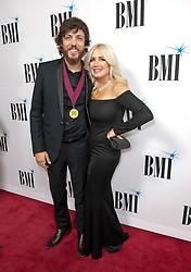 Nov. 13, 2018 - Nashville, Tennessee; USA - Musician CHRIS JANSON and his wife attends the 66th Annual BMI Country Awards at BMI Building located in Nashville.   Copyright 2018 Jason Moore. (Credit Image: © Jason Moore/ZUMA Wire)