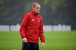 CARDIFF, WALES - Saturday, September 3, 2016: Wales' Shaun MacDonald during a training session at the Vale Resort ahead of the 2018 FIFA World Cup Qualifying Group D match against Moldova. (Pic by David Rawcliffe/Propaganda)