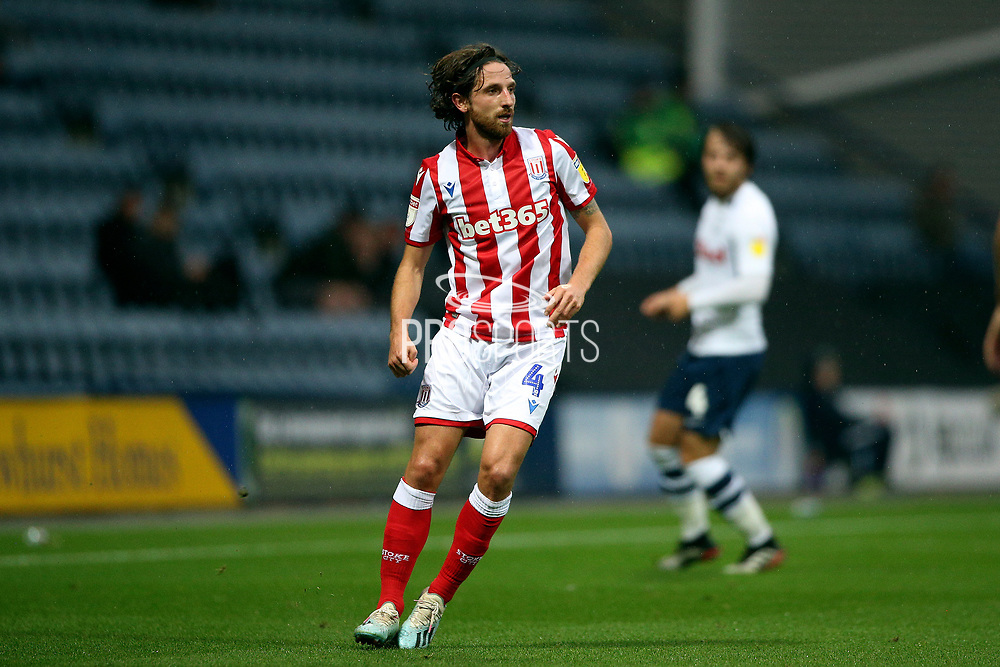 Stoke City midfielder Joe Allen(4) during the EFL Sky Bet Championship match between Preston North End and Stoke City at Deepdale, Preston, England on 21 August 2019.