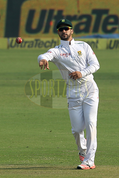 JP Duminy of South Africa  during day two of the 4th Paytm Freedom Trophy Series Test Match between India and South Africa held at the Feroz Shah Kotla Stadium in Delhi, India on the 4th December 2015<br /> <br /> Photo by Ron Gaunt  / BCCI / SPORTZPICS